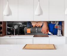 Aufkleber Küchenrückwand Auto Werkstatt Mechaniker Folie Spritzschutz 22A297