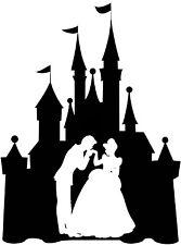 Custom Vinyl Decal Run Castle Cinderella Prince Charming Dance Kiss Sticker