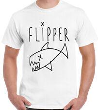 Como Usado Por Kurt Cobain Flipper-Para Hombre Camiseta Nirvana Grunge