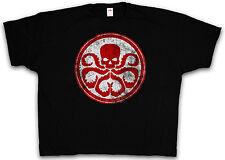 4XL & 5XL RED HYDRA LOGO T-SHIRT - Nick Agent SHIELD Fury T Shirt XXXXL XXXXXL
