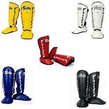 FAIRTEX SP7 TWISTED SHIN GUARDS PAD PROTECTOR MUAY THAI BOXING MMA TRAINING
