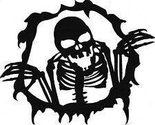 Wandtattoo Wandaufkleber Skelett Schaurig Gruselig
