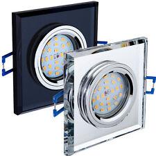 Einbaustrahler 1,3,5,7,10 Set Glas Chrom GU10 GU5,3 LED Einbauleuchte OH267