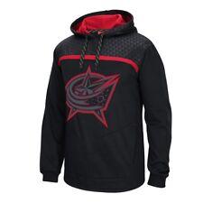 Columbus Blue Jackets Reebok Cross Check Team Logo Black Pullover Hoodie Men's