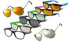 100 Style Gafas de sol Nerd para mujer hombre clásico y espejo Vintage Retro