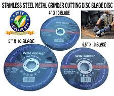 "10 PCS 4"" 4.5"" 5 INCH STAINLESS STEEL METAL WHEEL GRINDER CUTTING DISC BLADE"