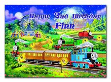 GRANDE Personalizzato Compleanno biglietto del treno; Qualsiasi Età & Nome; per piccolo o grande (d332)