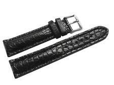 Uhrenarmband - stark gepolstert - echt Alligator - schwarz - 18,20,22,24 mm