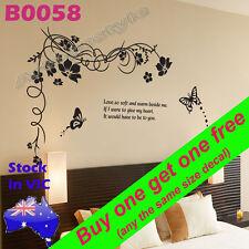 Wall Decal Sticker butterfly cirrus door lounge room door Decor Reusable B0058