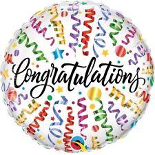 "Congratulations | Celebrate | Stars | Streamers 18"" Party Foil Balloon Qualatex"