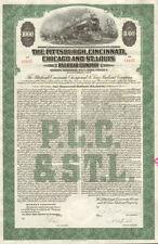 The Pittsburgh Cincinnati Chicago & St Louis Railroad $1,000 bond certificate
