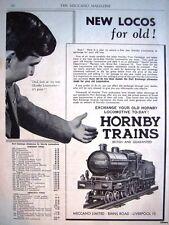 1934 'HORNBY' Toy Trains Part Exchange Scheme ADVERT - Original Print AD #1
