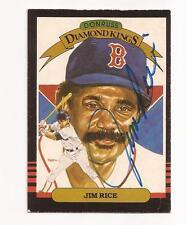 1985 Donruss Diamond King # 15 JIM RICE Autographed / Signed card Boston Red Sox