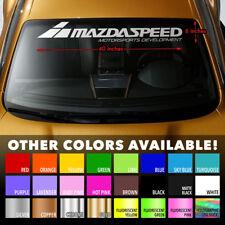 """MAZDA MAZDASPEED STYLE #2 Windshield Banner Vinyl Premium Decal Sticker 40""""x6"""""""