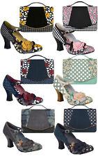 Ruby Shoo Dee  Mary Jane Pumps & Matching Belfast Bag 3-9 36-42 4 Colours