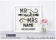 Mr & Mrs Vinyl Sticker - Fits IKEA RIBBA BOX FRAME - Wedding Vinyl - personalise