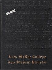 LEES-McRAE COLLEGE, CLASS OF 1977 FRESHMAN YEARBOOK, BANNER ELK, NC