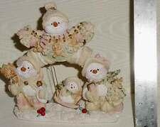 "Christmas Decoration decorative statue snowmen - about 7"" by 7"""
