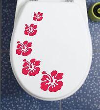 Klodeckel / Fliesen / Auto - Aufkleber WC Hibiskus H2 in 46 unters. Farben NEU