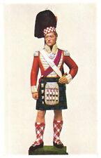 1822 93rd HIGHLANDER REGIMENT BRITISH UNIFORM POSTCARD