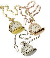 Reloj De Bolsillo Plata Oro Rosa década de 1920 Clásico pálida anteojeras Cadena Vintage Retro