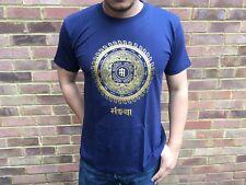 100%Cotton Handmade Unisex T-shirt printed Ganesh,Bhairab,Mandala,Eye of Buddha