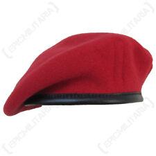 Britannique Laine Beret Police Militaire Royale (MP) - Rouge RMP 100% Armée Cap