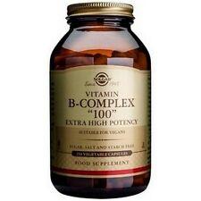 "Solgar Formula Vitamin B-Complex ""100"" 50 or 100 or 250 Vegetable Capsules"
