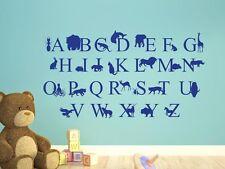 Tapisserie Autocollant Tatouage Pour Les Enfants Chambre Alphabet Animaux Abc LION OISEAU