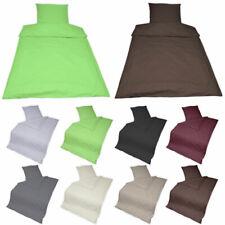 Baumwolle Bettwäsche 2 & 3 tlg mit Reißverschluss Bettgarnitur Bettbezug