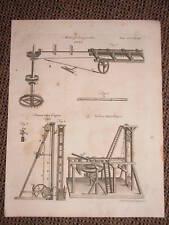 1797 PRINT - PILE ENGINES & PIPE BORING MACHINE