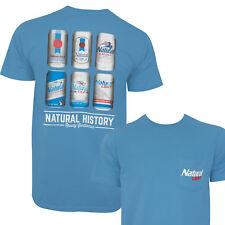 Natural Light History Lesson Rowdy Gentleman Tee Shirt Blue