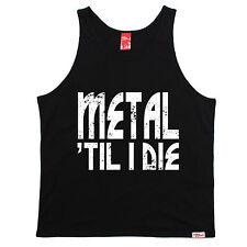 Metal Til I Die Uni Vest Band Rock Heavy Hardcore Fashion Gift fathers day