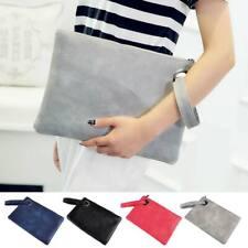 Women Pu Leather Envelope Shoulder Evening Party Purse Clutch Tote Handbag Bags
