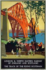 TW71 Vintage 1920's LNER Forth Bridge Scotland Travel Poster Re-Print A1/A2/A3