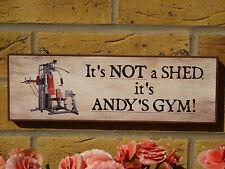Personalizado Home Gym signo arrojar signo Garage signo Jardín signo Multigym cinta rodante