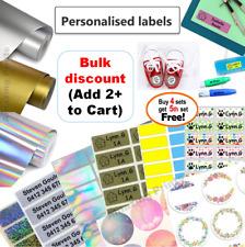 Vinyl Personalised Name Labels Pencil Stickers Childcare Kids Waterproof custom