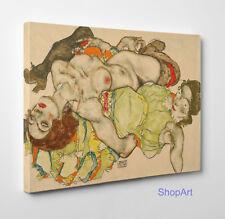 Quadro Egon Schiele Le Amanti II Stampa su Tela Canvas Vernice Effetto Dipinto