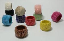Beaded Napkin Rings Serviette Rings - 30 Different Colours