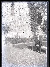Ancien négatif photo verre plaque Trèves thermes romains Nigra Germany