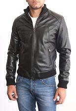 ★Giacca Giubbotto Uomo in di PELLE 100%★ Men Leather Jacket Veste Homme Cuir 3z4
