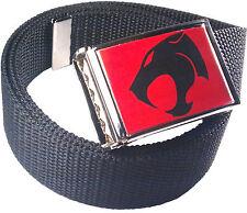 Thundercats Red Black Logo Belt Buckle Bottle Opener Adjustable Web Belt
