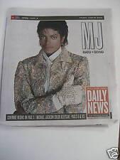 Michael Jackson - 1958-2009  US News Paper Coverage
