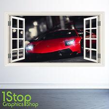 Lamborghini autocollant mural fenêtre couleur pleine-garçons filles super voiture W98