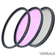UV + CPL + FLD Filter 52mm 58mm 67mm Super Slim Kamera Objektiv dünner Rahmen