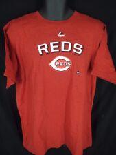 New Cincinnati Reds Mens Sizes S/M/L/XL Red Majestic Shirt MSRP $26