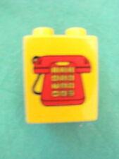 LEGO group DUPLO mattoncino giallo alto telefono phone