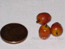 3 Manzanas en fimo miniatura 1/12 casas muñecas
