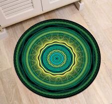 Mandala Meditation Green Non-Slip Home Bedroom Round Carpet Bath Rug Yoga Mat