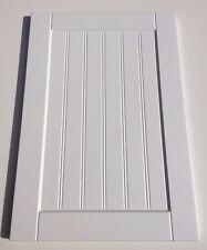 Bead & Butt T&G Matt White Shaker kitchen unit cabinet doors double grooved pane